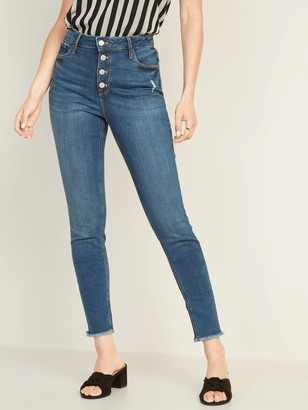 Old Navy High-Waisted Rockstar Raw-Edge Ankle Jeans For Women
