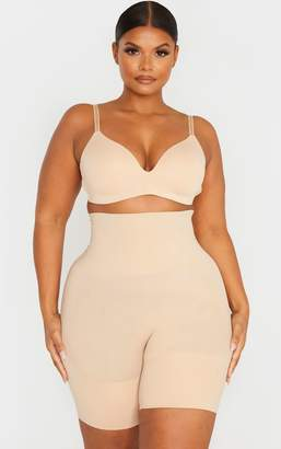 PrettyLittleThing Plus Black Seamless High Waist Control Shapewear Shorts