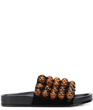 Jil Sander Bead-Embellished Sliders