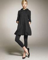 Hooded Fleece Coat, Black