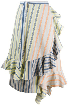 J.W.Anderson Striped Ruffle Skirt