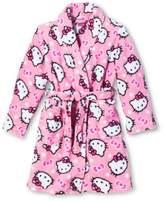 SANRIO Hello Kitty Big Girls Pretty Kitty Plush Fleece Robe Bathrobe