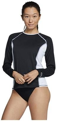 Speedo Swim Tee (Black/White) Women's Swimwear