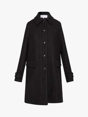 Gerard Darel Shanone Flared Button Coat, Black
