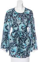 Suno Floral Print Belted Tunic