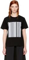 Alexander Wang Black Boxy Crewneck Barcode T-Shirt