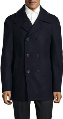 Calvin Klein Notch Double Breasted Topcoat