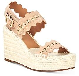 Chloé Women's Lauren Scalloped Espadrille Wedge Sandals