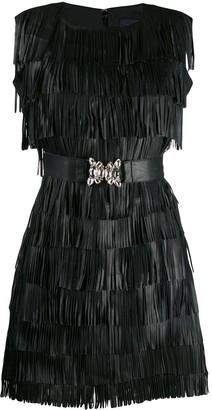 Class Roberto Cavalli Fringed Mini Dress