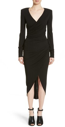 Michael Kors Long Sleeve Jersey Body-Con Midi Dress