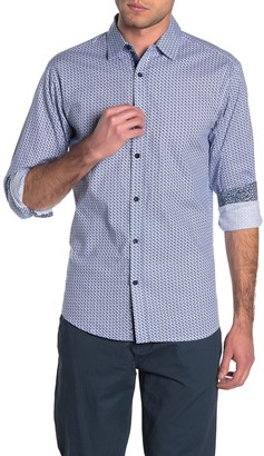 English Laundry Geometric Athletic Fit Shirt