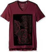 GUESS Men's Floral Velvet T-Shirt