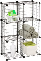 Honey-Can-Do Set of 6 Modular Mesh Storage Cubes