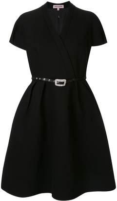 Dice Kayek belted full shape dress