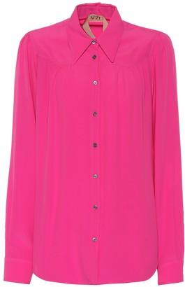 N°21 Silk-blend crepe shirt