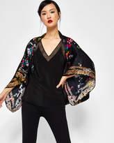 Ted Baker Opulent Fauna silk cape scarf