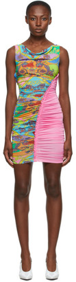 Versace Pink Belts Print Dress