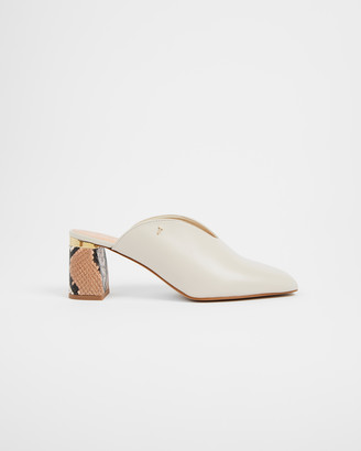 Ted Baker KAMIY Imitation Snake Detail Leather Mule