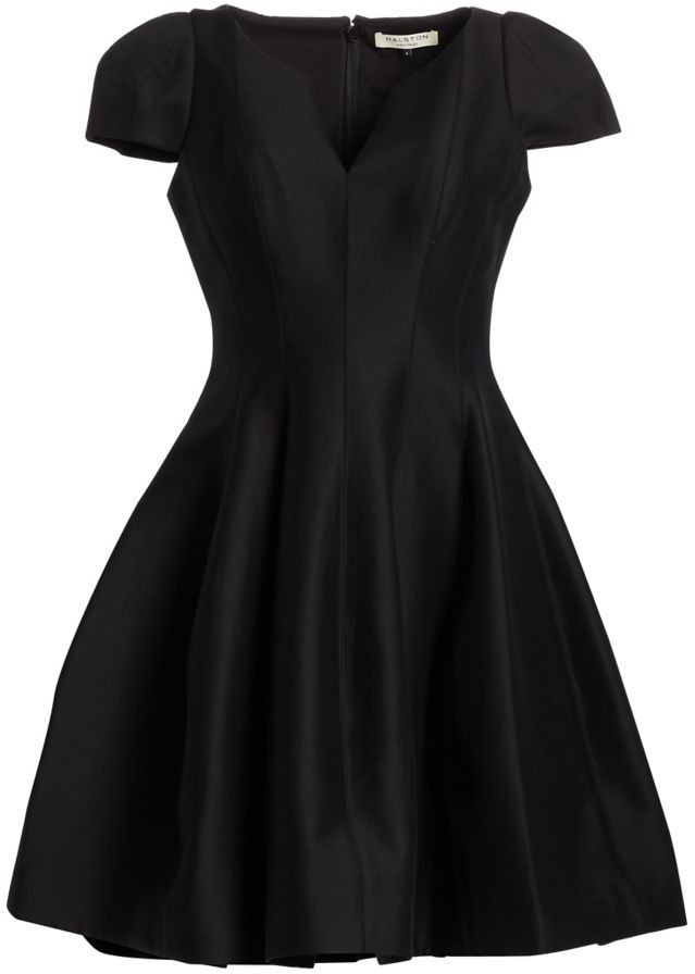 Halston Cotton & Silk Cocktail Dress