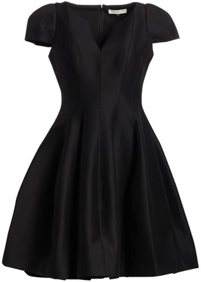 Halston Cotton & Silk Cocktail Dress