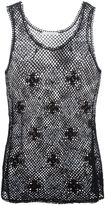 Chloé sleeveless crochet top - women - Cotton/Polyamide - S