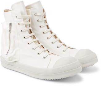 Rick Owens Bauhaus Cap-Toe Canvas High-Top Sneakers