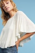 Knitted & Knotted Miah Pointelle Stitched Poncho, Ivory
