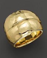 Ippolita 18K Gold Glamazon Hammered Band Double Wrap Ring