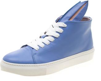 Minna Parikka Blue Leather Bunny Sneaks High Top Sneakers Size 40