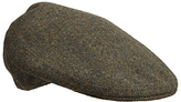 Olney Pin Dot Wool Flat Cap, Green