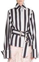 Marques Almeida Marques'Almeida Belted Striped Shirt