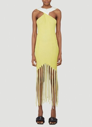 Bottega Veneta Fringed Fitted Dress