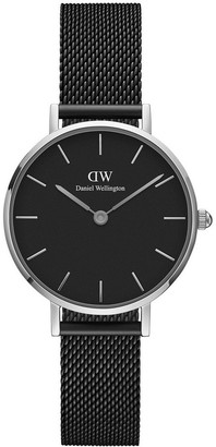 Daniel Wellington Petite Ashfield 28mm Silver/Black Watch