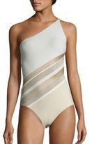 La Perla Diagonal Touch Asymmetrical One-Piece Swimsuit