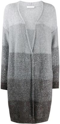 Fabiana Filippi Long Striped Wool Cardigan
