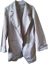 Saint Laurent Grey Polyester Trench coat