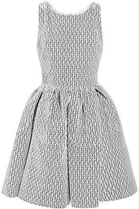 Alaia Embroidered Velvet Mini Dress