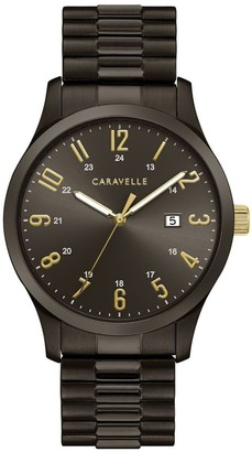 Caravelle by Bulova Men's Black Stainless Steel Watch