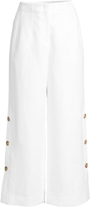Lafayette 148 New York Downing Linen Capri Pants