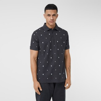 Burberry Star and Monogram Motif Cotton Pique Polo Shirt