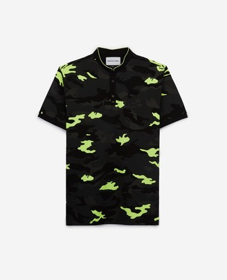 The Kooples Camouflage printed cotton polo shirt