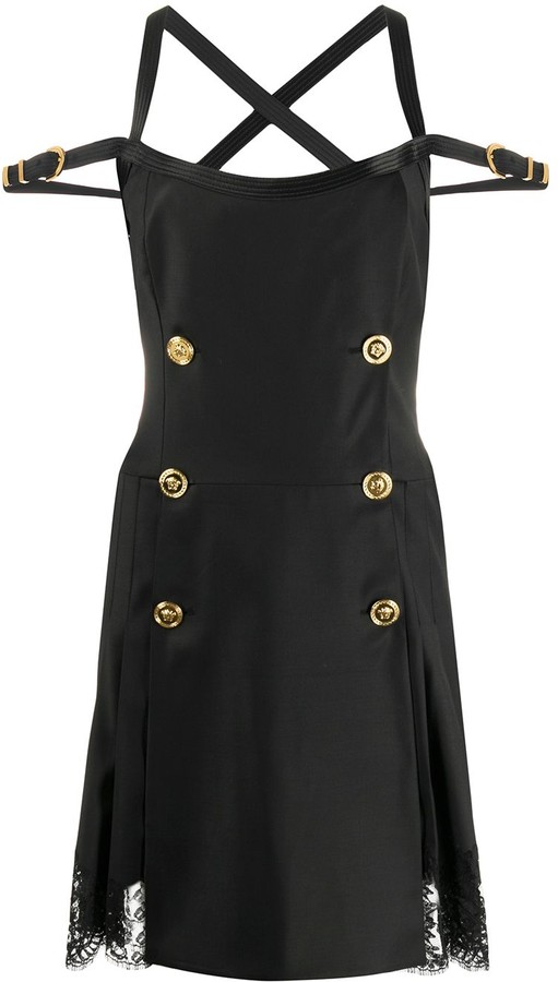 Versace Double-Breasted Mini Dress