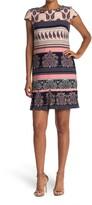 Thumbnail for your product : Sandra Darren Cap Sleeve Pleated Shift Dress