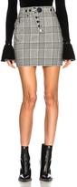 Alexander Wang High Waisted Mini Skirt in Black,Checkered & Plaid.