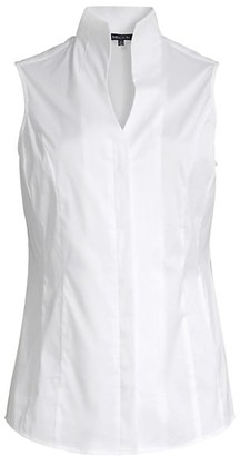 Misook Stretch Cotton Sleeveless Blouse