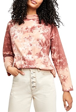 Free People Be Free Cotton Tie-Dyed Tee