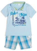 Petit Lem Infant's Graphic Polo Set