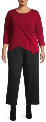 Joan Vass, Plus Size Ottoman Tie Top