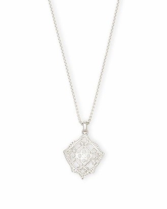 Kendra Scott Kacey Silver Long Pendant Necklace in Silver Filigree Mix