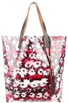 Marni Printed Leather-Trimmed Tote